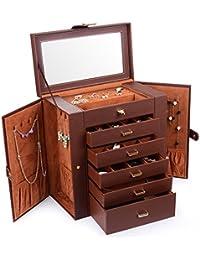 Huge Leather Jewelry Box/Case / Storage LJC-SHD5BN (Brown)