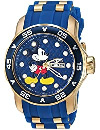 Men's 'Disney Limited Edition' Quartz Stainless Steel and Silicone Casual Watch, Color:Blue (Model: 23764)