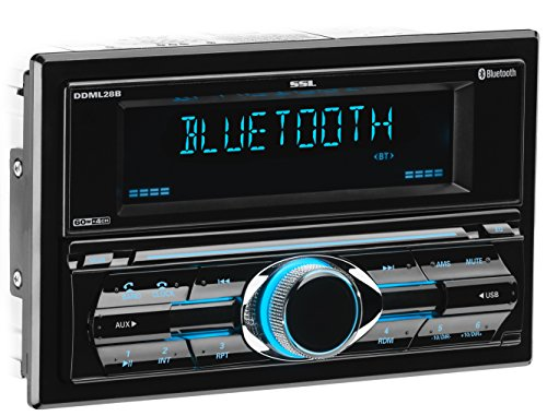 Sound Storm DDML28B Multimedia Car Stereo - Double Din, Bluetooth Audio and Hands-Free Calling, MP3 Player, USB Port, AUX Input, AM/FM Radio Receiver, (No CD/DVD)