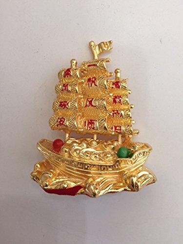 Feng Shui Sailing Wealth Ship with Ingots