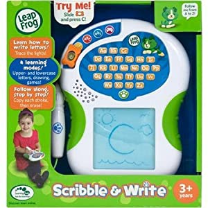 LeapFrog Scribble & Write, Kids trace the lights to learn how to write