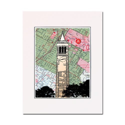 - Sather Tower, University of California, Berkeley, campanile (clock tower), fine art print. Enhance your home or office. Matted and ready-to-frame. Gallery quality.