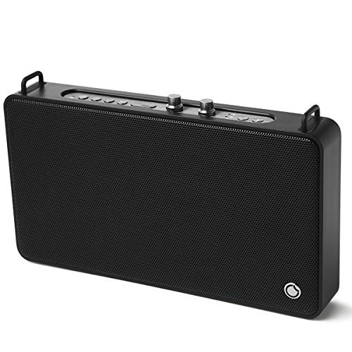 Portable Speaker GGMM Wifi Speaker Multiroom Speaker, Alexa Built-in Bluetooth Speaker with Treble and Bass Controls,20W Driver Wireless Speaker Supports Connection to Spotify Airplay DLNA iHeartRadio (Best Outdoor Airplay Speakers)