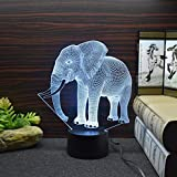 Best Creative Motion Changing Tables - Connoworld Touch Control 3D Elephant LED Color Changing Review
