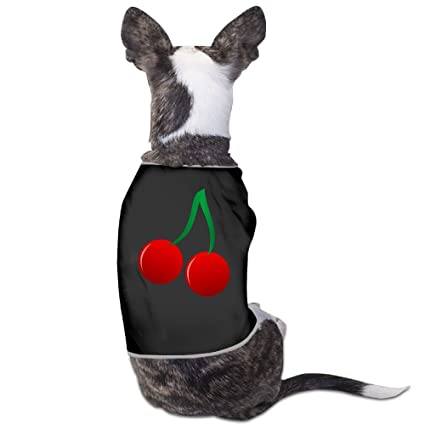 548939518236 Image Unavailable. Image not available for. Color: Fonsisi Lovely Dog Shirts  Cherry Bloom Pattern Pet Puppy Tank Top ...