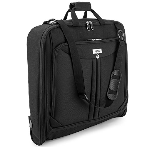 3 Suit Carry On Garment Bag for Travel & Business Trips With Shoulder Strap 40'' Bagazzi Brand