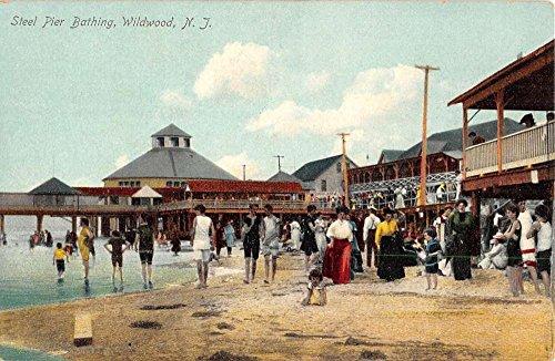 Wildwood New Jersey Steel Pier Bathing Antique Postcard K53583