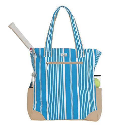 Ame and Lulu Ticking Stripe Tennis Tote Bag