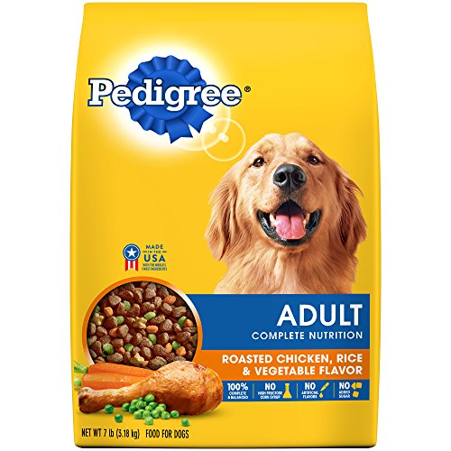 PEDIGREE Adult Complete Nutrition Roasted Chicken, Rice & Vegetable Flavor Dry Dog Food 7 Pounds