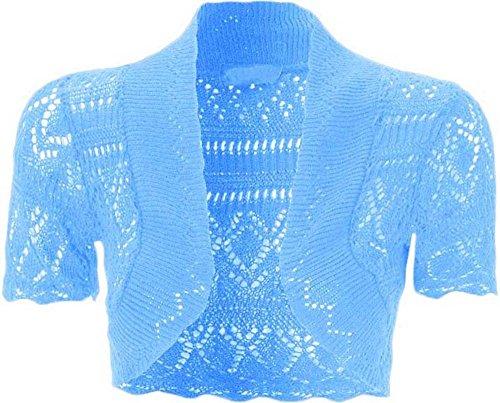 Rebeca torera para mujer (manga corta) azul celeste