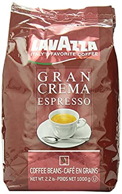 Lavazza Whole Bean Coffee, Gran Crema Espresso, 2.2-Pound Bag (Pack of 2)