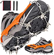 Kekilo Crampons Ice Cleats Grippers More Durable Walk Traction Anti-Slip for Hiking Climbing Hunting Walking o