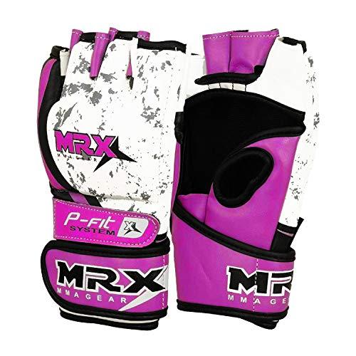 MRX MMA Gloves Boxing Gloves for Men & Women | Kickboxing Gloves with Open Palms Grappling Gloves for Punching Bag…