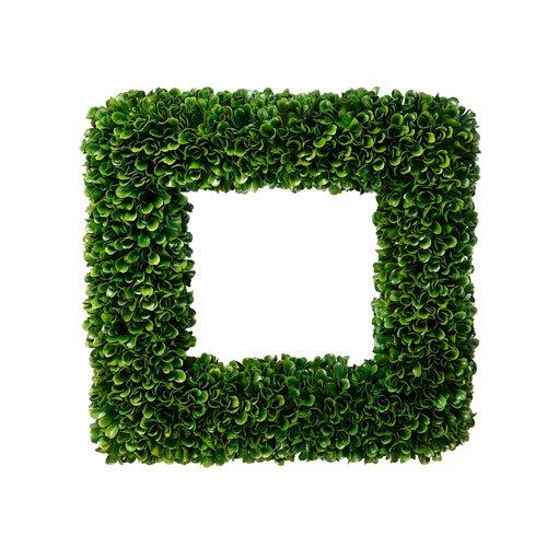 "14"" square boxwood wreath"