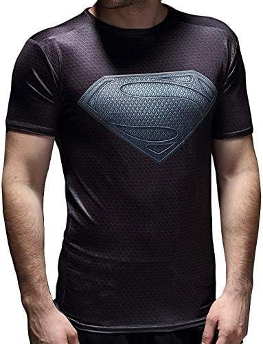 DWYRD Camiseta De Compresión Impresora 3D Superman Manga Corta ...