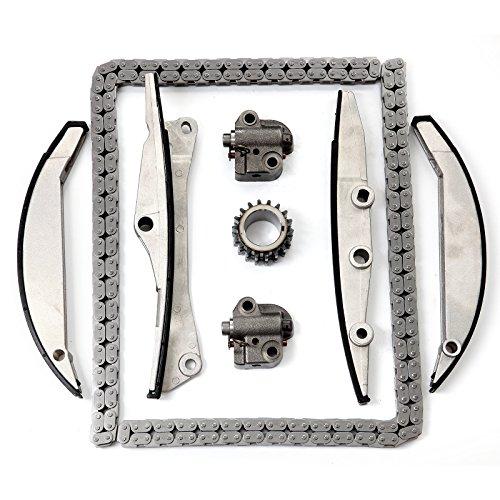 Ford Contour Engine Crankshaft (ECCPP TK458 Timing Chain Kit Crank Sprocket Tensioner Crankshaft Sprocket fits for 1998 1999 2000 FORD CONTOUR 1999 2000 MERCURY COUGAR 1997 1998 1999 2000 MERCURY SABLE)