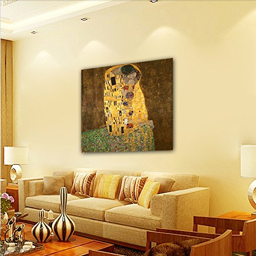Amazon.com: Wieco Art - Extra Large The Kiss by Gustav Klimt Famous ...