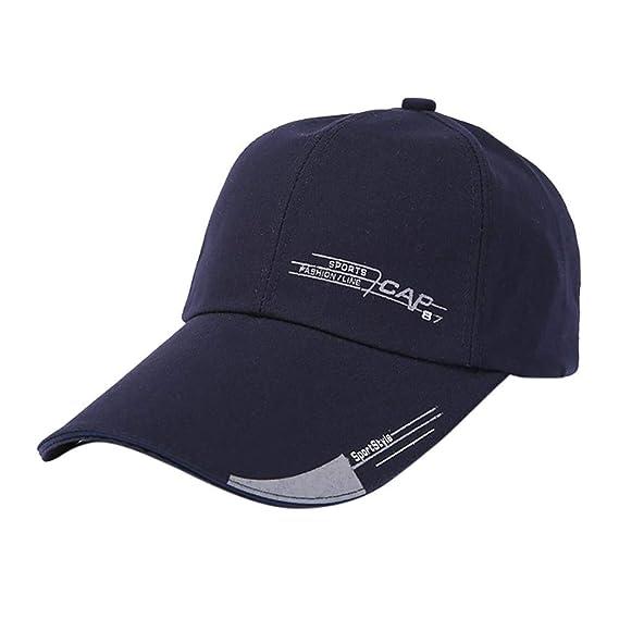 Rovinci Moda Unisexo Mujer Hombres Ajustable Vistoso Carta Bordado Béisbol Sombrero Cap Sombrero Plano (Armada): Amazon.es: Ropa y accesorios
