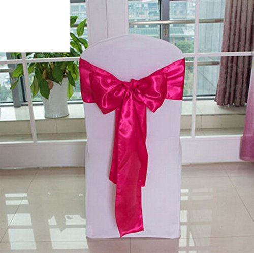 Wedding chair back cover/decorative streamers/bow ribbon-C by WXTFQB