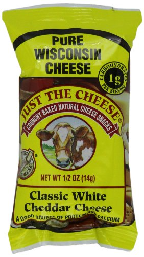 Juste les snack-bars, fromage cheddar blanc classique, Bars 0,5 onces (Pack de 15)