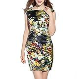 FDFAF Elegant Women Dress Floral Oil Print EU Style Woman New Short Sleeve O Neck Slim Pencil Office Work Dresses