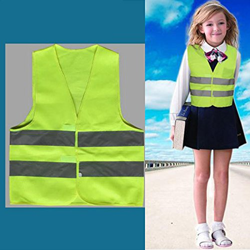 WXLAA Children Safety Vest Waistcoat with Reflective Strips for Cycling, Running, Jogging