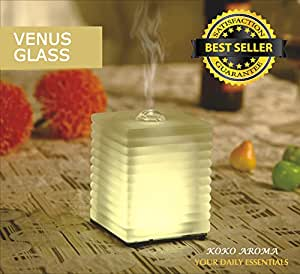 KOKO AROMA Aromatherapy Essential Oil Diffuser (ON SALE Limited Time) - Venus Glass - Innovative Ultrasonic Oil Burner - Soothing Warm LED Light - Elegant and Stylish Spa Vapor Purifier