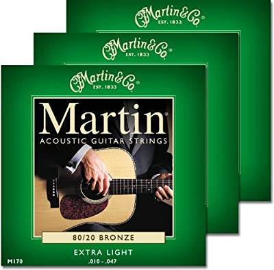 Martin M170 80/20 Acoustic Guitar Strings from Martin