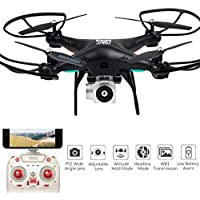 FANOUD Quadcopter RC Wide Angle Lens HD Camera Drone WiFi FPV Live Helicopter Hover (black)