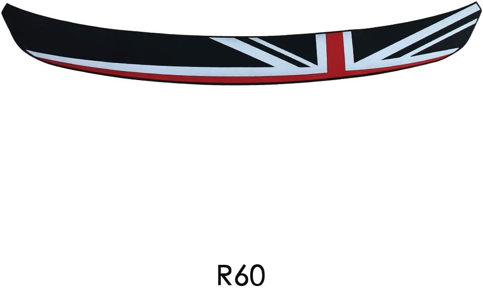 Rubber Car Rear Bumper Protection Trim Rear Guard Plate Protector Union Jack Flag Sticker for BMW Mini Cooper R56 Clubman R55 Accessories