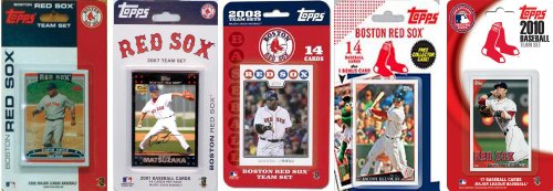 (MLB Boston Red Sox 5 Different Licensed Trading Card Team Sets)