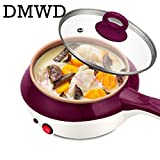 DMWD mini stainless steel steamer eggs Boiler Electric Skillet multifunction Cooker Kitchen Cooking pot Fried Steak frying pan