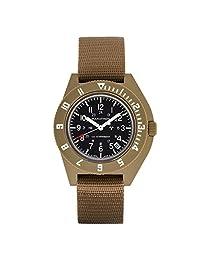 MARATHON WW194013DT-NGM Swiss Made Military Navigator Quartz Watch with Date Sterile Dial and Tritium