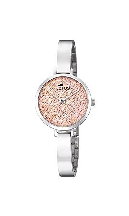 Lotus Watches Reloj Análogo clásico para Mujer de Cuarzo con Correa en Acero Inoxidable 18561/4: Amazon.es: Relojes