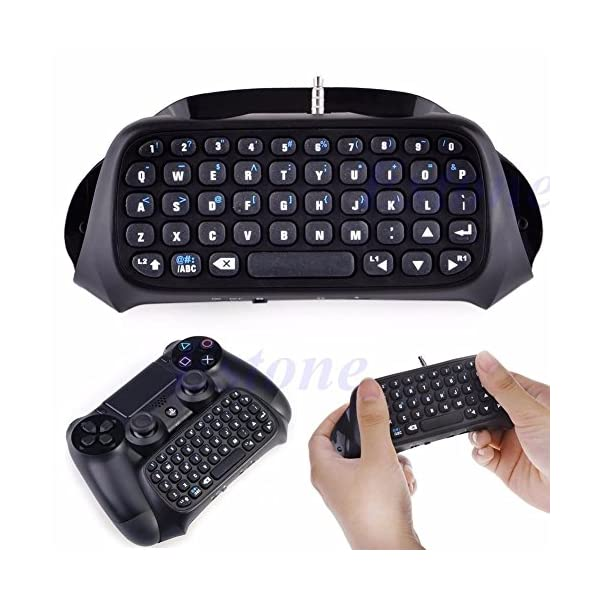 PS4 Keyboard,Prodico 2.4G Wireless Chatpad Message Keyboard for PS4 Controller Update Version 2