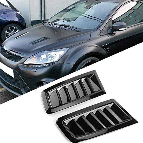 Schwarz Glänzend Kohlefaser Fensterseite Louvers Vent Für Ford Focus Schrägheck