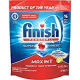 Finish Max in 1 Ultra Degreaser Lemon Automatic Dishwasher Detergent Tablets, 16 Count (Packaging May Vary)