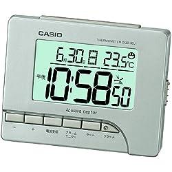 CASIO DQD-80J-8JF Temperature Display Digital Alarm Clock Radio Silver (Japan Import)