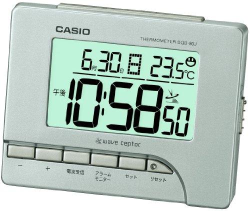 CASIO DQD-80J-8JF Temperature Display Digital Alarm Clock Radio Silver (Japan Import) (Casio Digital Radio)