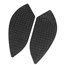 Tank Gas Pad Knee Fuel Side Grips Protector For BMW S1000RR 2010-2016 & S1000R 2014-2015 (Black)