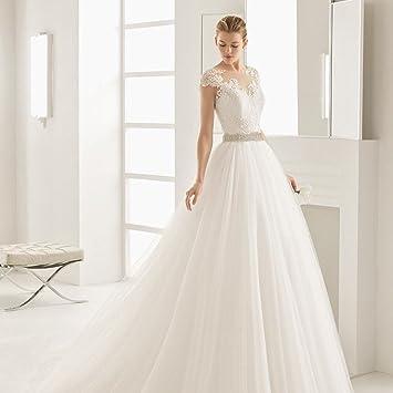 AN Vestido de novia princesa de ensueño vestido de novia Vestido de novia de princesa cola