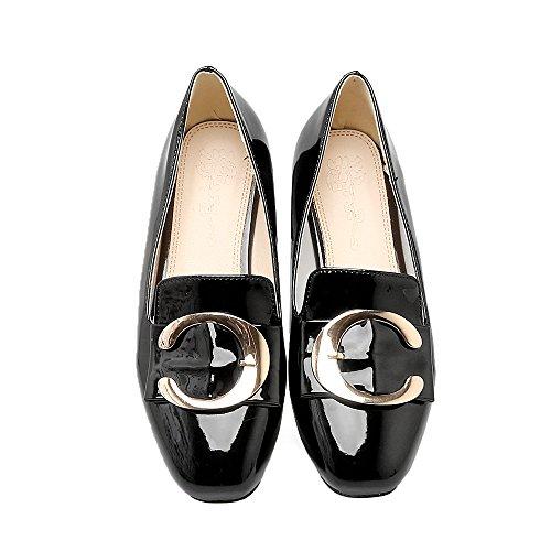 Show Shine Dames Dames Decoratie Slide Casual Instappers Schoenen Zwart