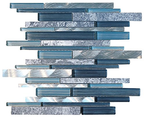 Blue Tile Backsplash Amazoncom