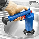 unbrand Home High Pressure Air Drain Blaster Pump Plunger Sink Pipe Clog Remover Toilets Bathroom Kitchen Cleaner Kit