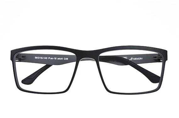 7010e9b24714 Agstum Mens Ultem Flexible Optical Eyeglasses Frame Myopia Glasses Rxable  (Black Light grey)