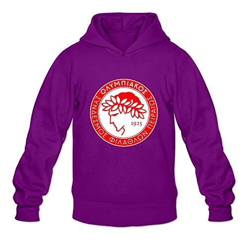 fan products of Men's Olympiacos FC Long Sleeve Hoodies Sweatshirt Purple Size L Brand By Rahk