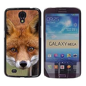 TECHCASE**Cubierta de la caja de protección la piel dura para el ** Samsung Galaxy Mega 6.3 I9200 SGH-i527 ** Fox Animal Art Fairytale Forest Red Face