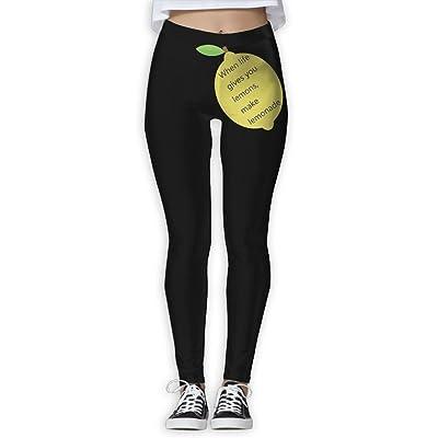 Life Gives You Lemons Make Lemonade Printed Yoga Pants Best Choice For Women