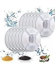 12 Pack Cat Water Fountain Filter, Pet Fountain Filters Replacement Filters with Resin and Active Carbon, for Cat Fountain Water Dispenser