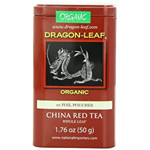 Dragon-Leaf Organic China Whole Leaf, Red Tea, 1.76-Ounce